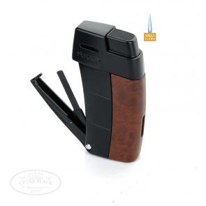 Xikar Resource Pipe Lighter Burl w/Black Trim-www.cigarplace.biz-21