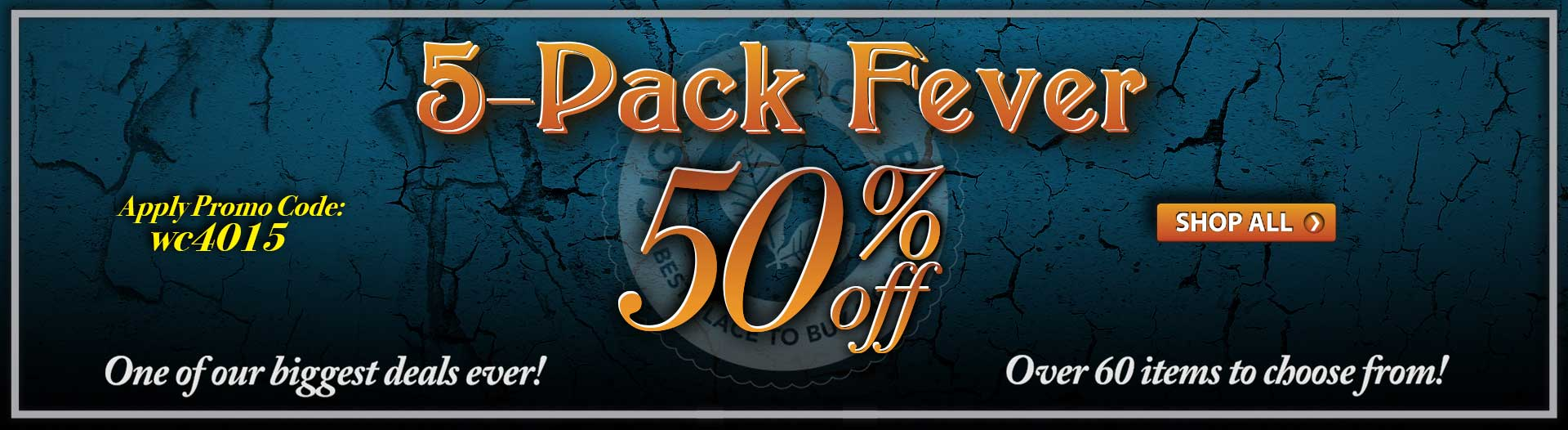 50% Off 5-Packs
