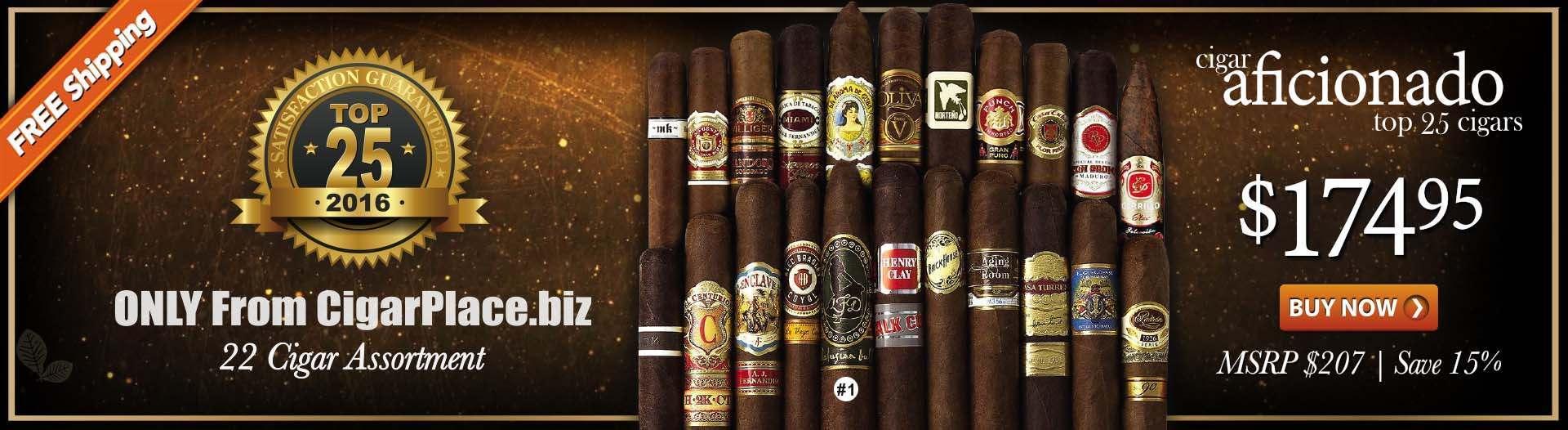 Cigar Aficionado Top 25 Cigars of 2016 Sampler