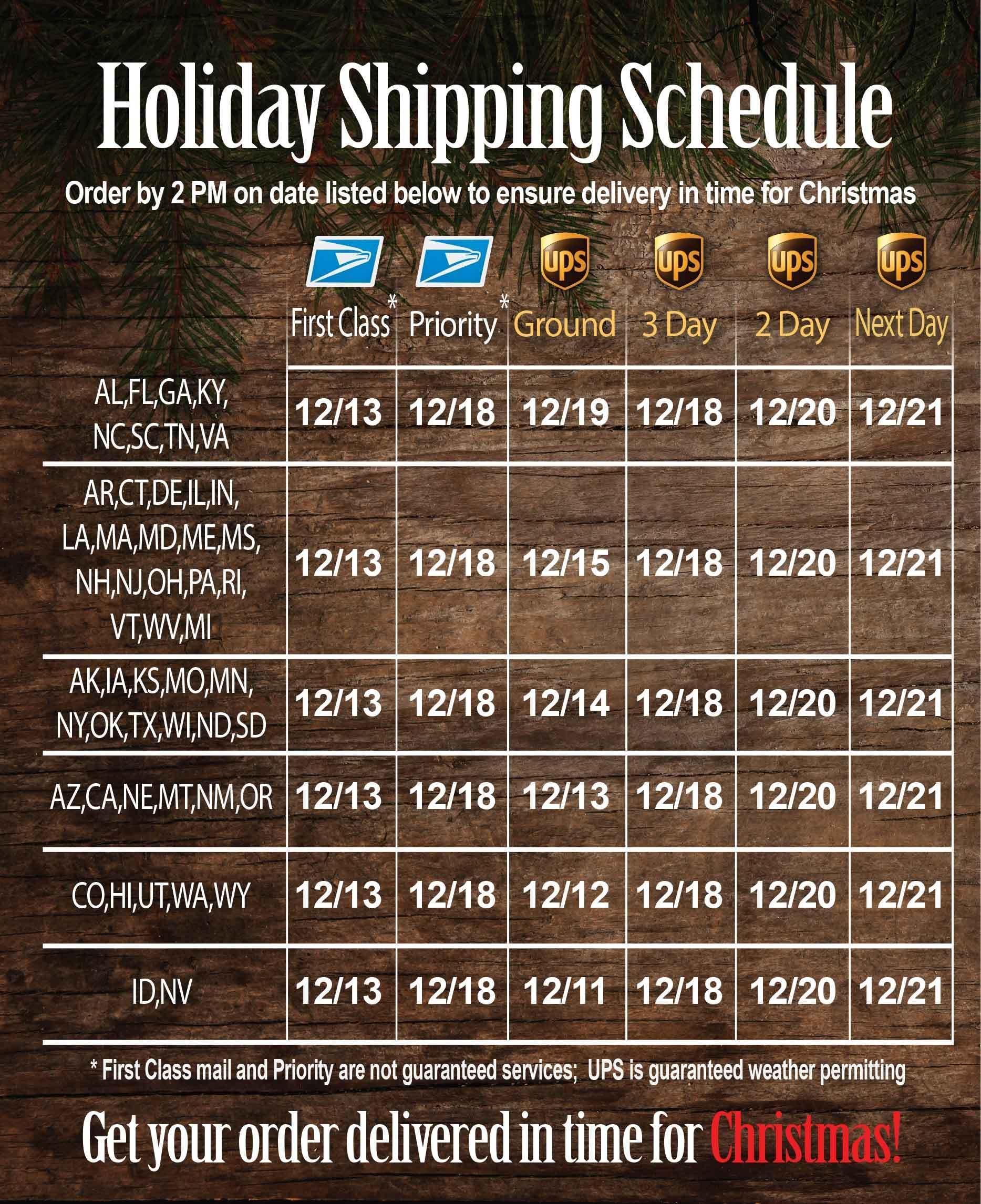 Holiday Shipping Banner Matrix