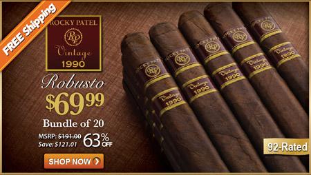Rocky Patel Vintage 1990 Robusto Bundle of Cigars