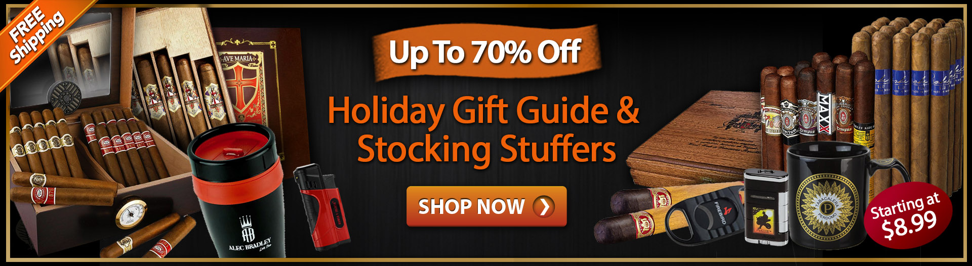 Holiday Gift Guide Is Here. Save Up to 70%