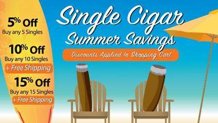 Single Cigar Summer Savings